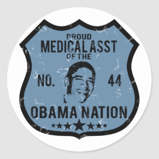 Medical Asst Obama Nation Classic Round Sticker