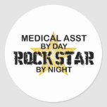 Medical Asst Rock Star Classic Round Sticker