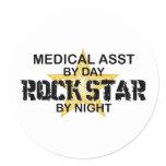 Medical Asst Rock Star Classic Round Sticker