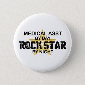 Medical Asst Rock Star Pinback Button