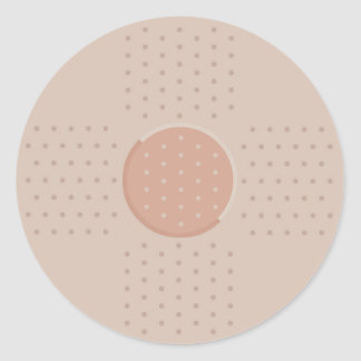 Medical Band-Aid Plaster - Round Sticker