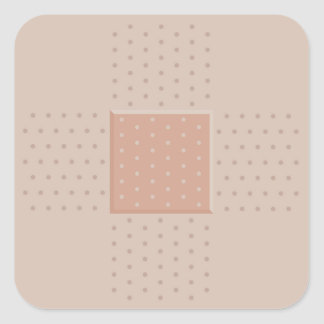 Medical Band-Aid Plaster - Square Sticker