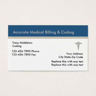 Medical Billing And Coding Services Business Card