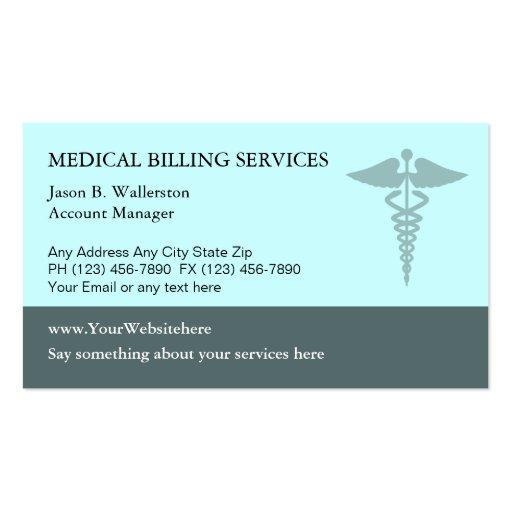 medical billing business cards