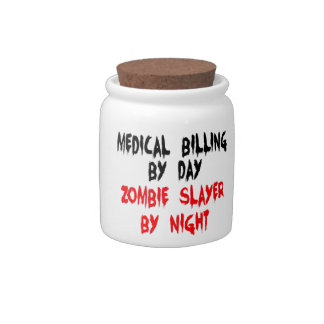 Medical Billing Zombie Slayer Candy Jars