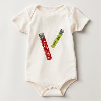 medical blood and virus testtubes. baby bodysuit