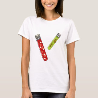 medical blood and virus testtubes. T-Shirt