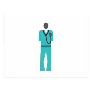 Medical Blue Scrub Postcard