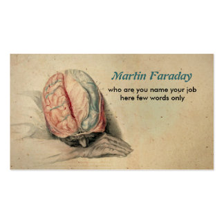medical business card human brain