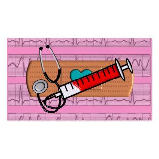 Medical Business Cards Big Bandaid pink II Business Card