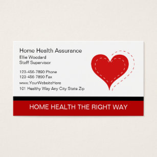 Home health care business cards templates zazzle medical business cards business cards reheart Image collections