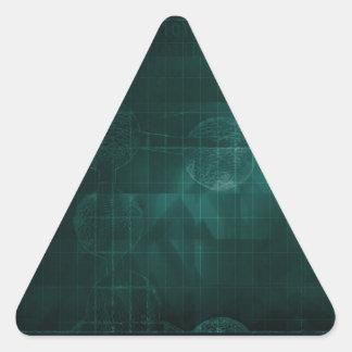 Medical Business Setup or Startup Company Pegatina Triangular