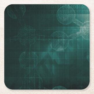 Medical Business Setup or Startup Company Square Paper Coaster