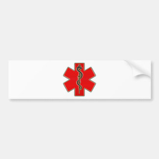 Medical Caduceus Bumper Sticker