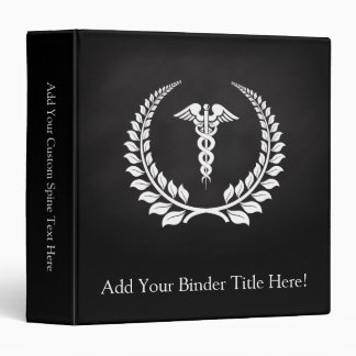 Medical Caduceus Laurel 3 Ring Binder