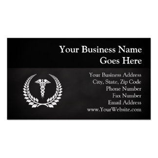 Medical Caduceus Laurel Double-Sided Standard Business Cards (Pack Of 100)
