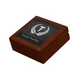 Medical Caduceus Laurel Keepsake Box