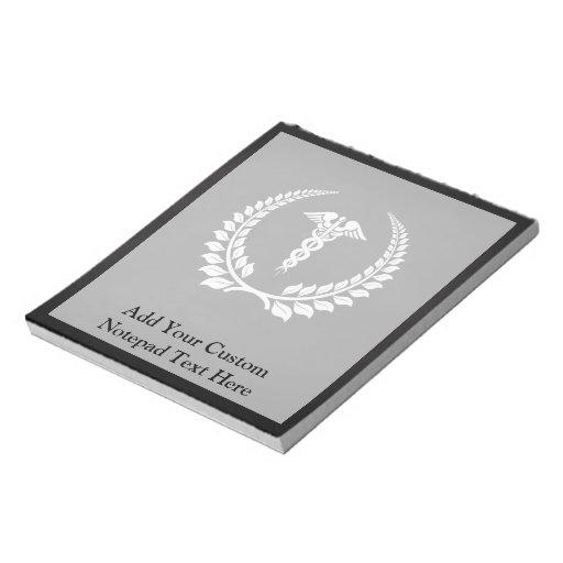 Medical Caduceus Laurel Memo Note Pads
