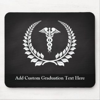 Medical Caduceus Laurel Mouse Pad