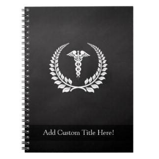 Medical Caduceus Laurel Notebook