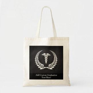 Medical Caduceus Laurel Tote Bag