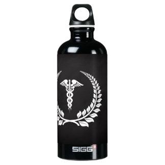 Medical Caduceus Laurel Water Bottle