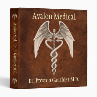 Medical Caduceus Presentation Business Binder