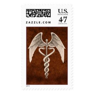 Medical Caduceus Symbol Vintage Business Postage