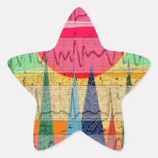Medical Cardiac Rhythm Forest Dreams Star Sticker