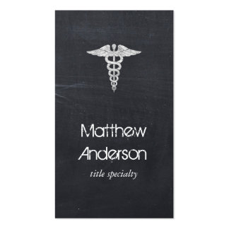 Medical Care Health Care - Blackboard Chalkboard Double-Sided Standard Business Cards (Pack Of 100)