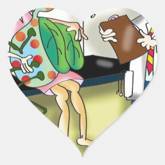 Medical Cartoon 9517 Heart Sticker