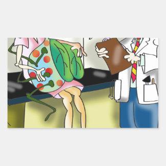 Medical Cartoon 9517 Rectangular Sticker
