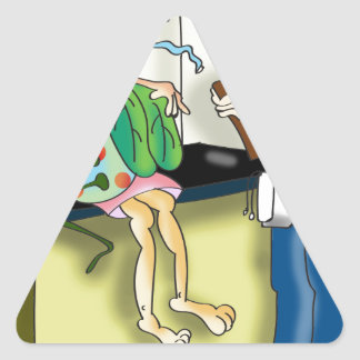 Medical Cartoon 9517 Triangle Sticker