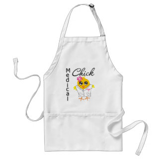 Medical Chick Occupation Adult Apron