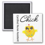 Medical Chick  v1 Certified Nurse Assistant 2 Inch Square Magnet