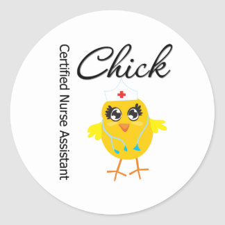Medical Chick  v1 Certified Nurse Assistant Stickers