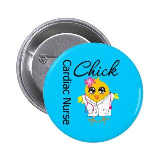 Medical Chick v2 Cardiac Nurse Pinback Button
