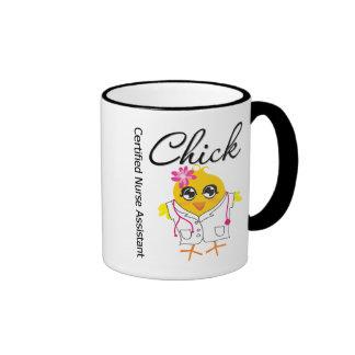 Medical Chick v2 Certified Nurse Assistant Ringer Coffee Mug