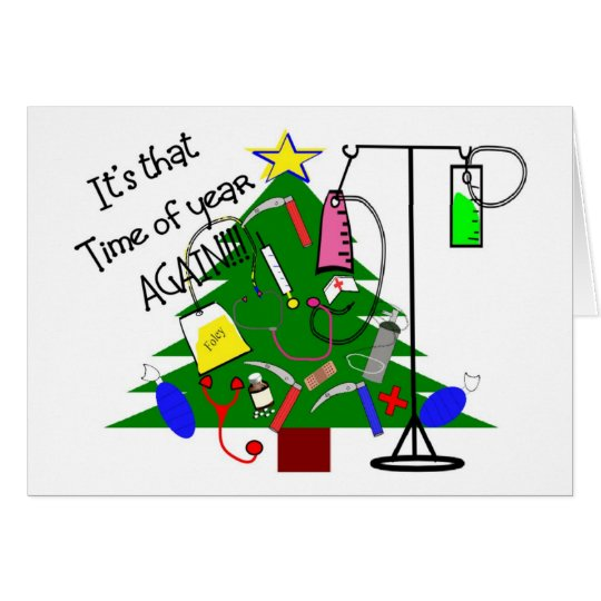 Medical Christmas Tree Gifts Funny Card Zazzle Com