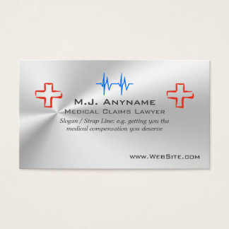 Medical Claims Lawyer luxury silver-effect Business Card