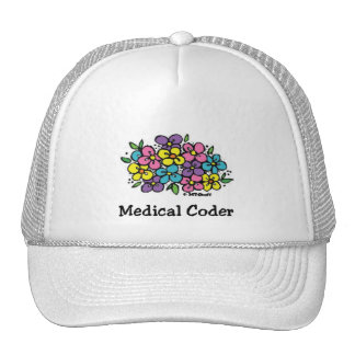 Medical Coder Blooms1 Trucker Hat