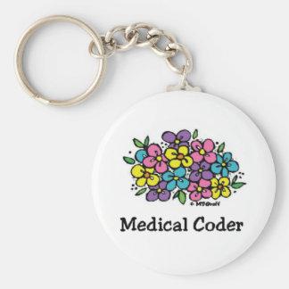 Medical Coder Blooms1 Keychain