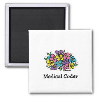 Medical Coder Blooms1 Magnet