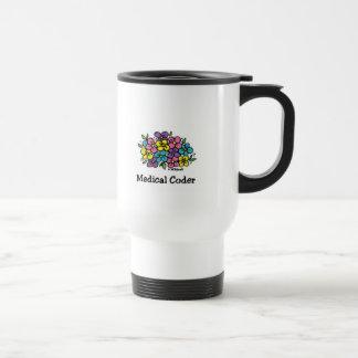 Medical Coder Blooms1 15 Oz Stainless Steel Travel Mug