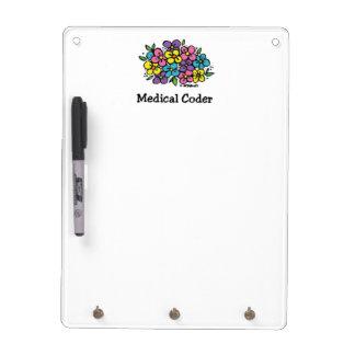 Medical Coder Blooms2 Dry Erase Board