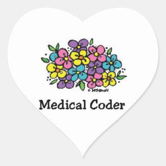 Medical Coder Blooms2 Heart Sticker