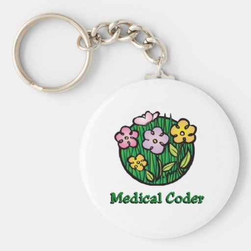 Medical Coder Blooms2 Key Chain