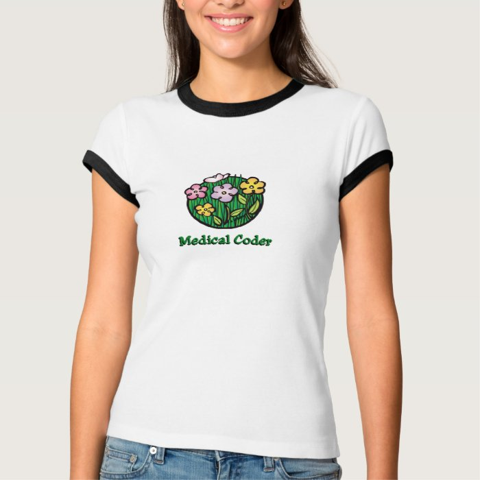 Medical Coder Blooms2 T-Shirt