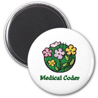 Medical Coder Blooms 1 Magnet