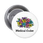 Medical Coder Blooms 2 Pin